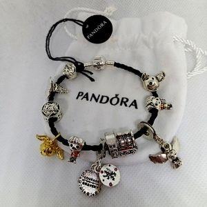 Pandora Bracelet w/ Harry Potter Charms